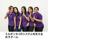 ミルボンタイのシステムを支える女子チーム