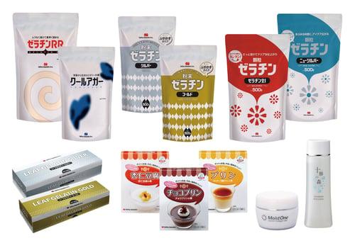 新田ゼラチンの製品群