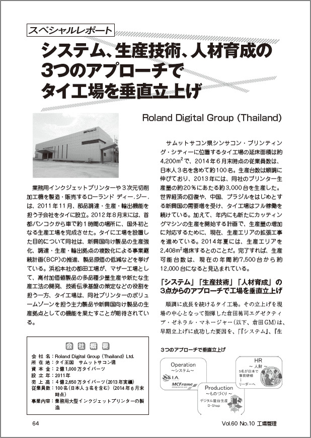 【mcframeGA、CS海外事例】Roland Digital Group(Thailand)様