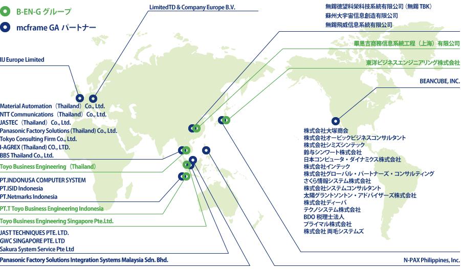 現地でお客様をサポートするグローバルサポートネットワーク