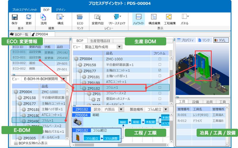 E-BOM→M-BOM変換 設計変更トレースと反映