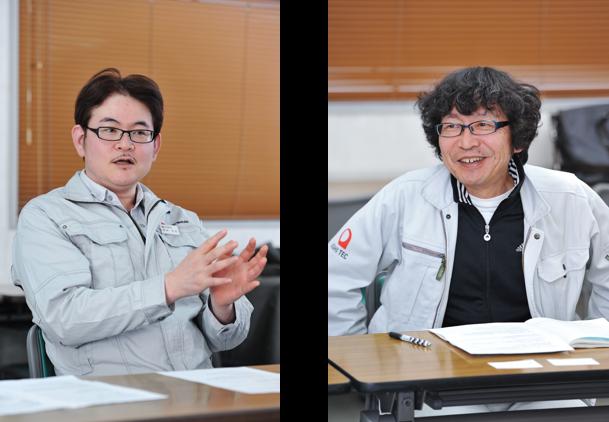 (左)企画管理部 ITグループ 堀井 洋志 氏 (右)システム導入アドバイザー 竹原 正直 氏