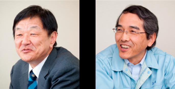 (左)管理本部 情報管理部 部長 森本 功 氏 (右)信頼性保証本部 品質保証室 室長 川上 浩 氏