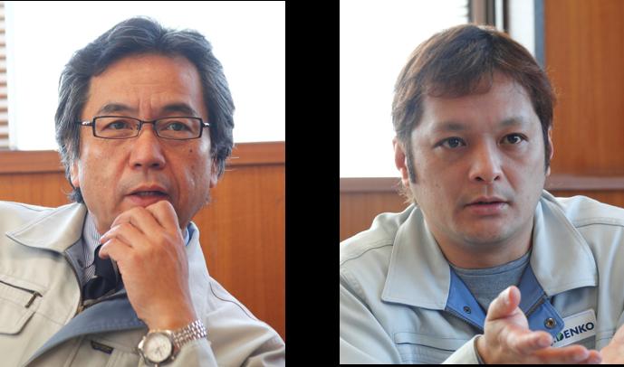 (左)代表取締役社長 福田 辰徳 氏 (右)生販企画戦略課 課長 大久保 誠 氏