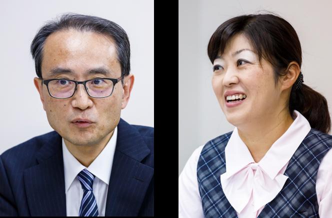 (左)情報管理部 部長 中村 達司 氏、(右)情報管理部 係長 森 香織 氏