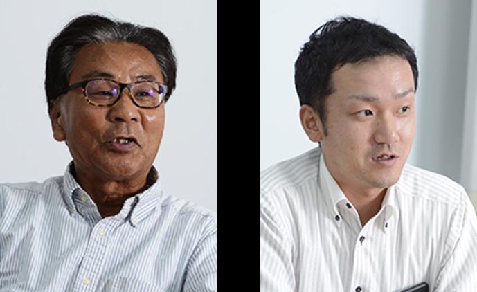 (左)Director, General Manager 池田次男氏、(右)General Manager, Production Section 土居 和憲 氏