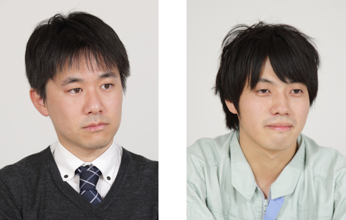 (左)製造戦略部 製造システムグループ 主任 佐々木 朝 氏 (右)経理企画グループ 高橋 知希 氏