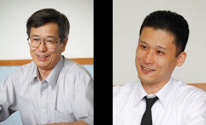 (左)経理部 部長 山縣 勝也 氏 (右)管理統括部 システム担当 寳田 貴博 氏
