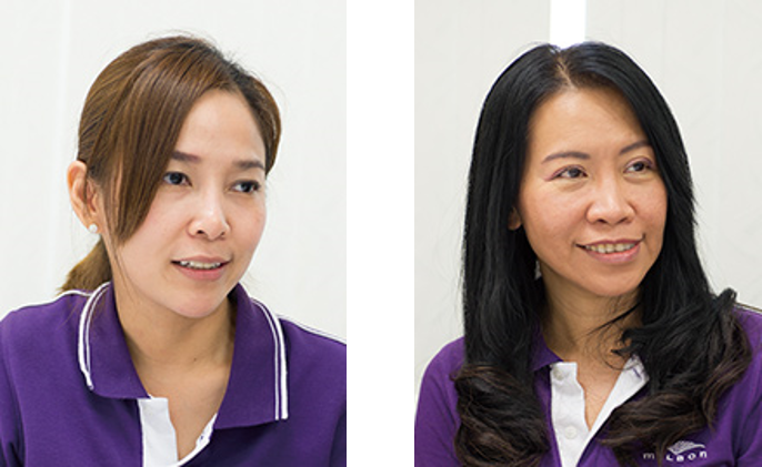 General Manager(物流・貿易・企画)Ms. Kamonwan Sangsuwan(Som)、(会計)Ms. Phaiphan Pattasart(Ann)