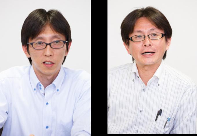 (左)管理部 次長 兼 経理課長 小澤 一士 氏 (右)管理部 情報システム部課長補佐 川内 智和 氏