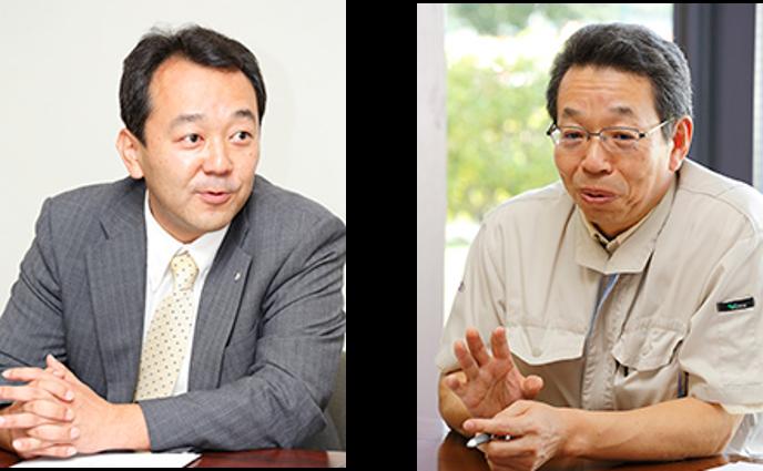 コーポレート本部 情報システム部長 北澤 義道 氏、取締役 製造本部 副本部長 加野敏明氏