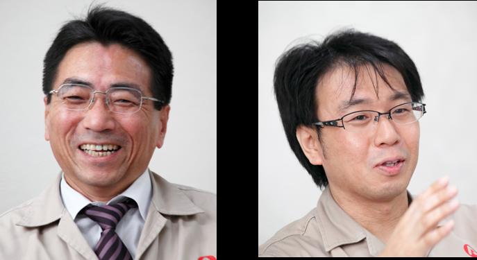 (左)企画・経理室(情報システム) 部長 北西 正典 氏 (右)企画・経理室(情報システム) 係長 藤原 義規 氏