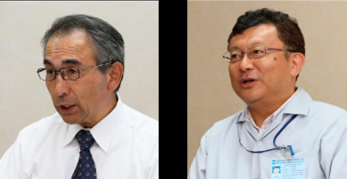 (左)Managing Director 小平 幸彦氏 (右)Director and Factory Manager 小椋 肇 氏
