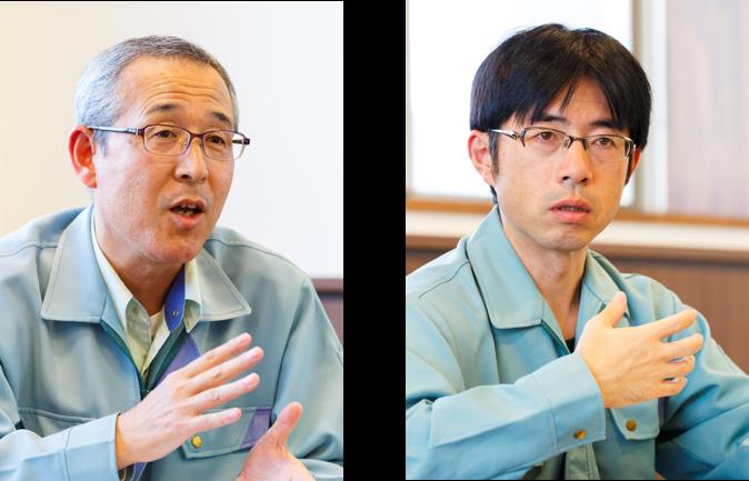 (左)顧問 神山 輝夫 氏 (右)情報システム部 情報システム課 システム運用係 係長 柳澤 洋 氏
