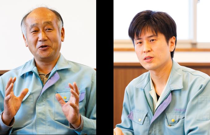 (左)経営管理部次長 兼 経営企画課長 町田 靖 氏、(右)生産管理部 生産設計課 西澤 貴志 氏