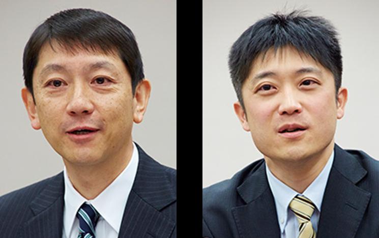 (左)経理部 部長 岩崎光史氏、(右)経理部 本社経理課 課長 山下兼氏