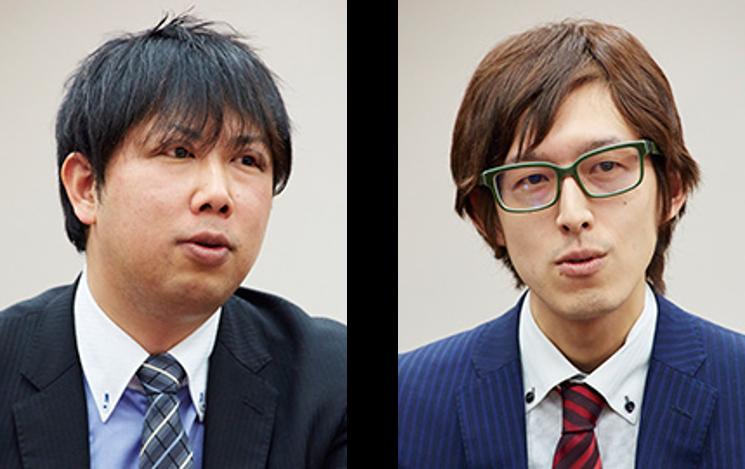 (左)経理部 本社経理課 副主事 篠田博一氏、(右)経理部 本社経理課 治田一峰氏