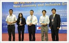 上海メンバー受賞式の様子(2010年受賞時)